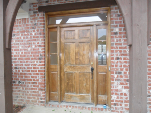 Stained Doors without Finish